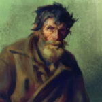 Digital study of a Repin painting depicting an old peasant man by Maurilio Milone